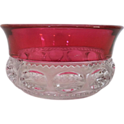 Ruby Flash Kings' Crown Fruit / Dessert Bowl
