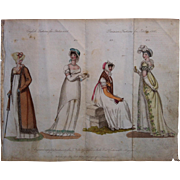 October 1806 La Belle Assemblee English / Parisain Fashion Print