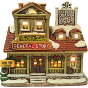 1987 Lefton Trader Tom's General Store ~ Colonial Village # 06336