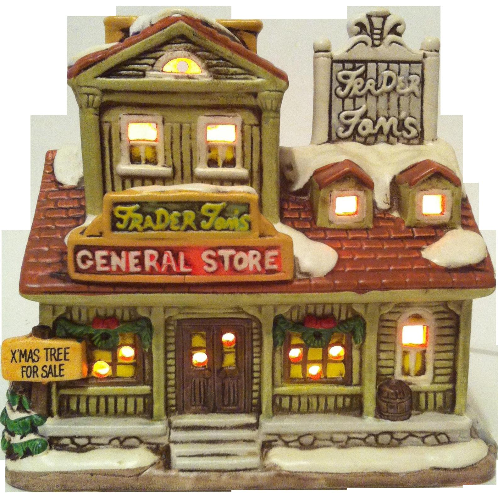 1987 Lefton Trader Tom's General Store ~ Colonial Village # 06336