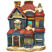 1987 House of Blue Gables Lefton Colonial Village #06337