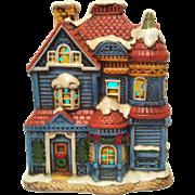 1987 House of Blue Gables Lefton Colonial Village #06337