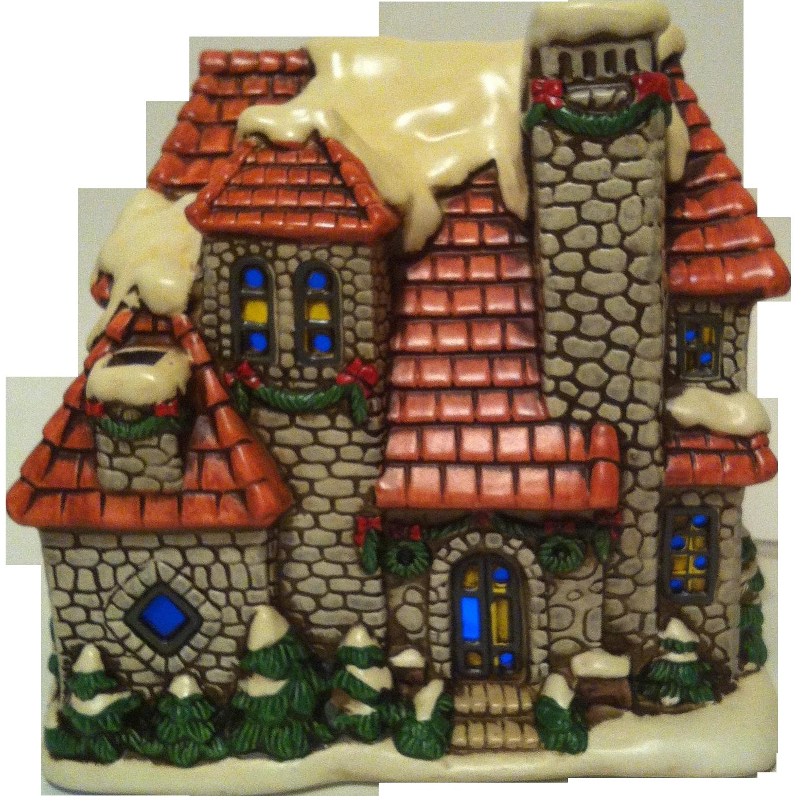 1987 Lefton Stone House ~ Colonial Village # 06338