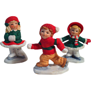 1987 Trio Lefton Colonial Village Figurines~