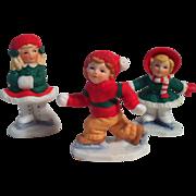 1987 Trio Lefton Colonial Village Figurines~