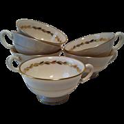 6 Golden Wreath Cups ~ Lenox # 0313