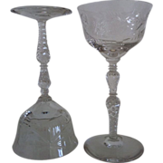 Set of 6 Salon Liquor Cocktail Stems Libbey Rock Sharpe