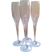 4 Mikasa Arctic Lights Champagne Flutes