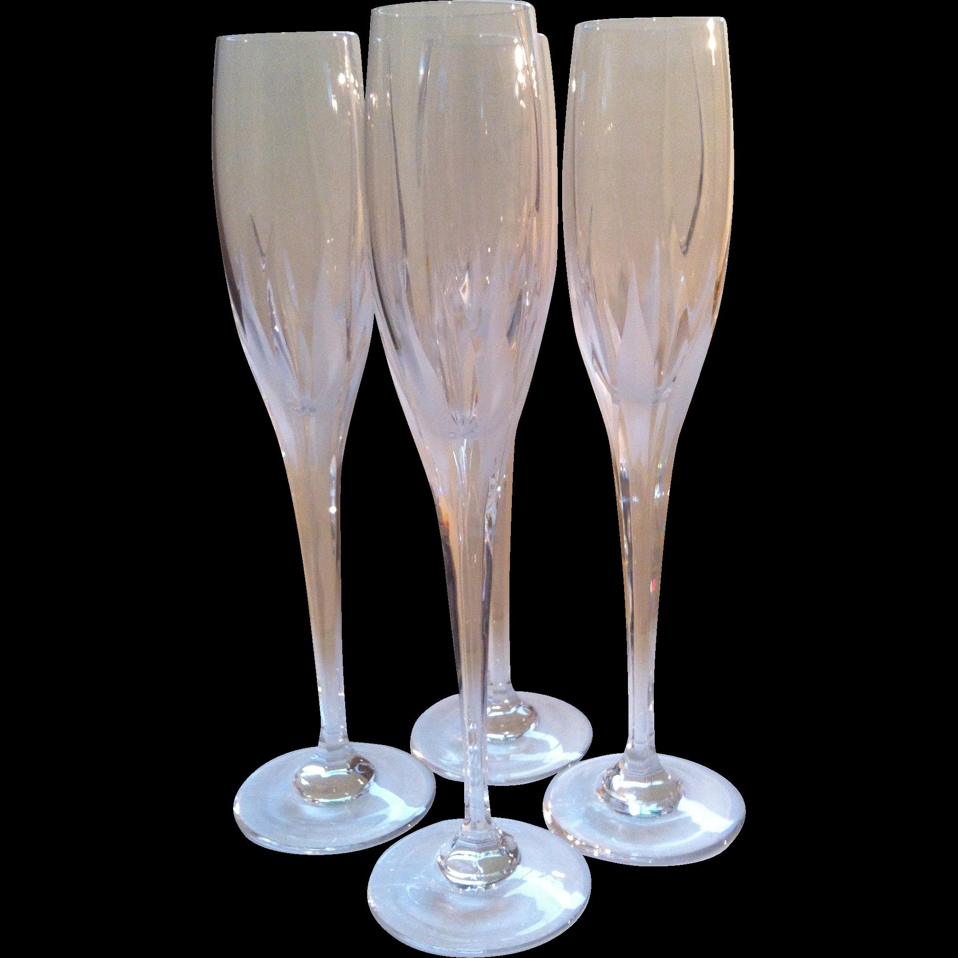 4 Mikasa Arctic Lights Champagne Flutes