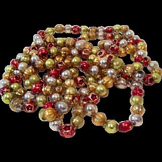 Mercury Glass Tree Garland Beads