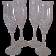 4 Mikasa Chateau Champagne Flutes #40063