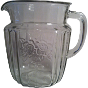 Mayfair Clear Pitcher ~ Anchor Hocking