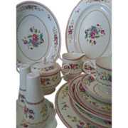 64 piece Mikasa Chershire 8 Place Setting plus Serving Pieces