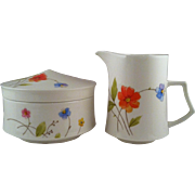 Mikasa Just Flowers Cream & Sugar Set