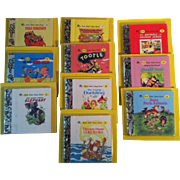 10 Miniature Little Little Golden Books