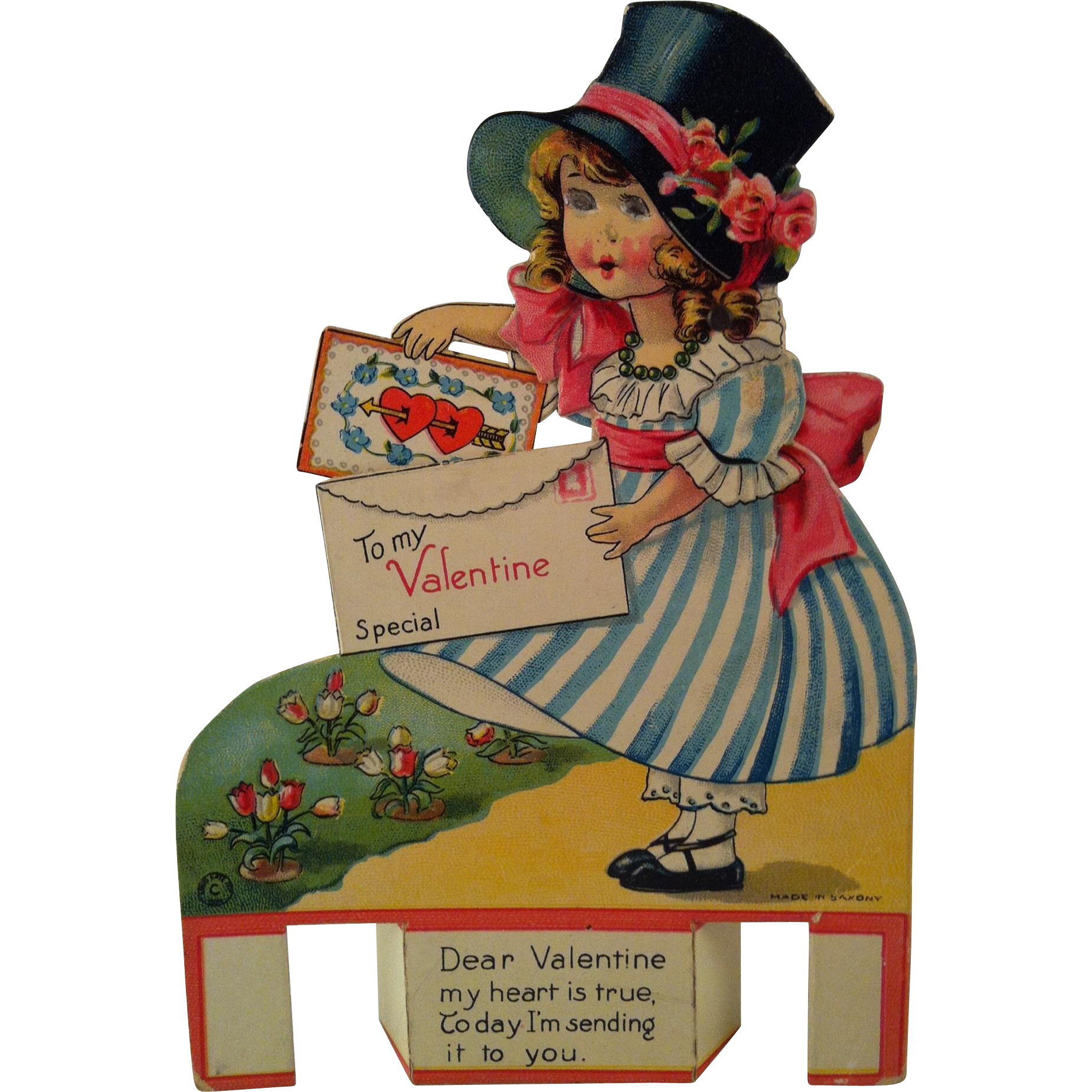 Mechanical Girl with Valentine ~ made in  saxony