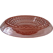 Martha Washington Rolled Edge Console Bowl~ Pink by Cambridge