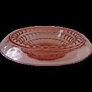 Martha Washington Rolled Edge Console Bowl~ Pink by Cambridge