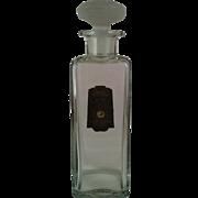 9 oz Mellier White Rose Perfume Bottle ~ early 1900's