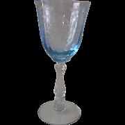 Navarre Blue Water Goblet ~ Fostoria # 6016