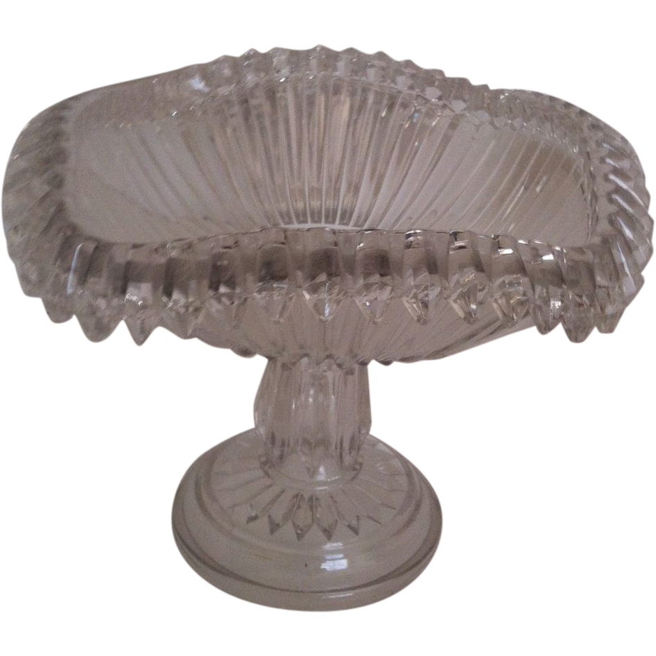 EAPG Chandelier aka Crown Jewel Compote by O'Hara