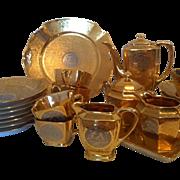 •ON HOLD FOR H.M.• PA Arzberg Gold Platinum Dessert Service for 6