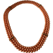 "Pop It Snap Bead Peach  Necklace 36"" With Spacers"