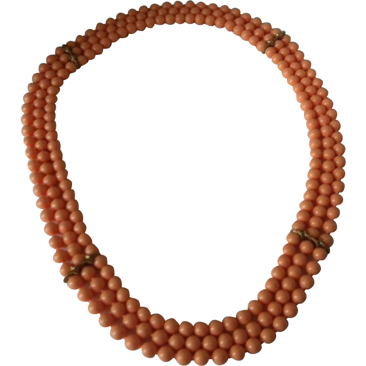 """Pop It Snap Bead Peach  Necklace 36"""" With Spacers"""