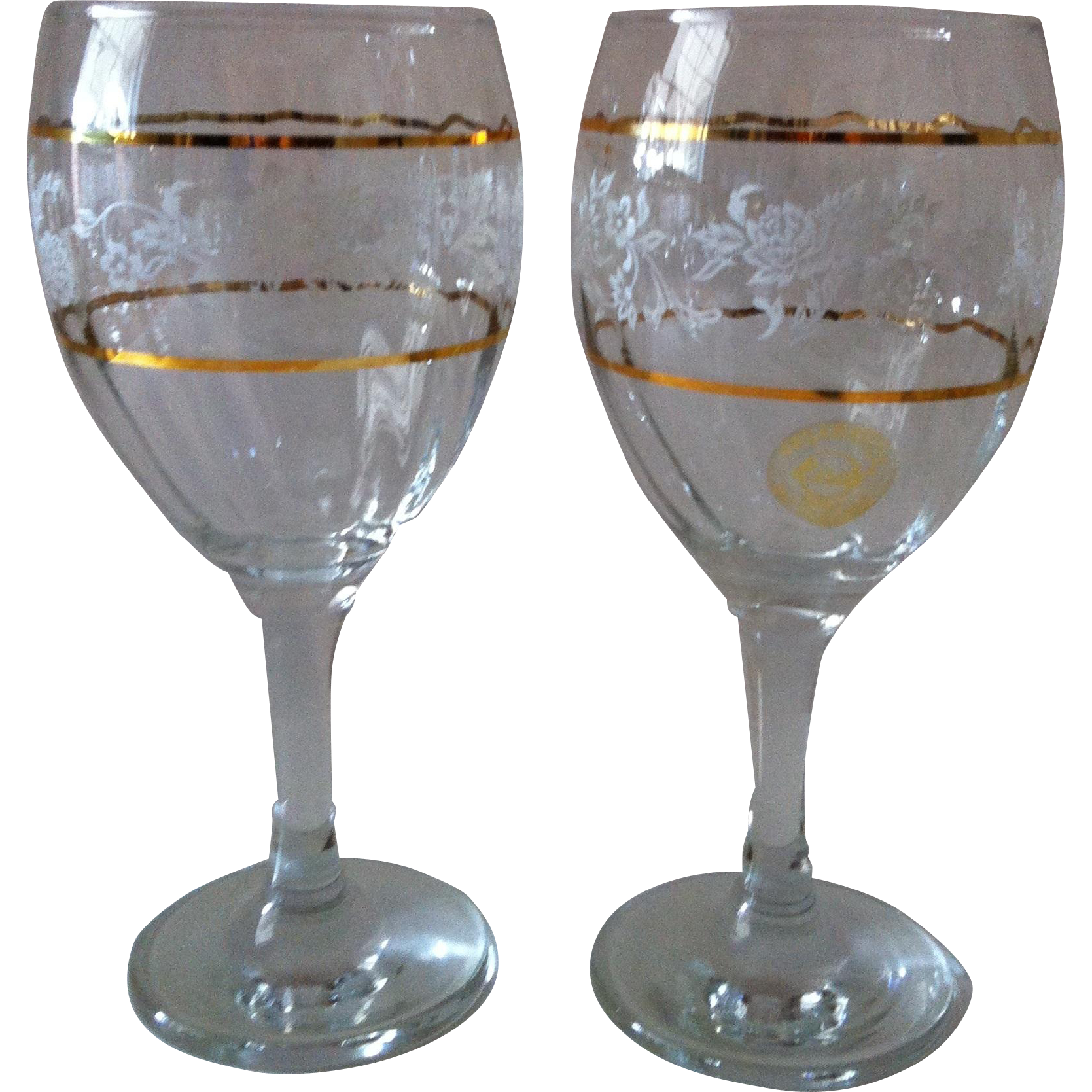 2 Pasabahce Water / Beverage Goblets ~ PAB14 ~