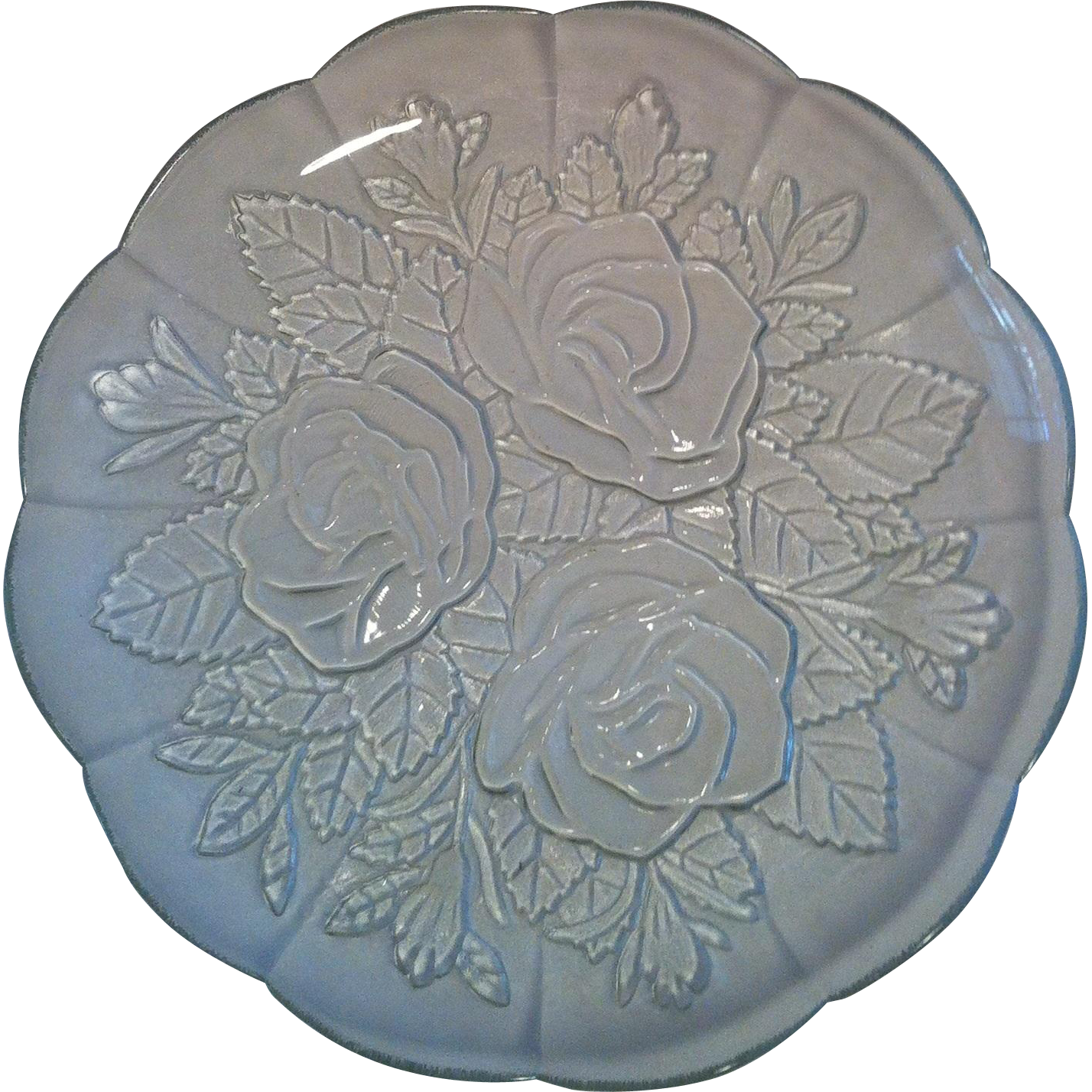 6 Embossed Rose Lavia by Pasari Plates & Bowls