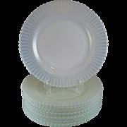 4 Petalware White Monax Dinner Plates ~ MacBeth Evans
