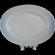 "13"" Oval White Petalware Monax Platter ~ MacBeth Evans"