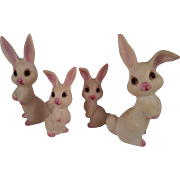 4 Porcelain Bunny Figurines - Red Tag Sale Item