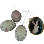 4  Easter Tree Ornaments~ hand painted