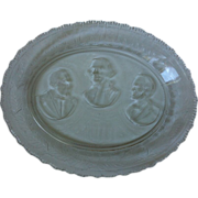 Eapg The Remembrance Presidents Historical  Bread Platter 1881
