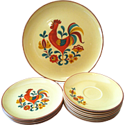 12 Reveille Rooster Dinnerware ~Taylor Smith & Taylor