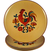 4 Dinner Plates Reveille Rooster by TS&T