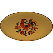 """13"""" Oval Platter Reveille Rooster ~ Taylor Smith & Taylor"""