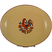 "11"" Reveille Rooster Oval Vegetable Bowl - TS&T"