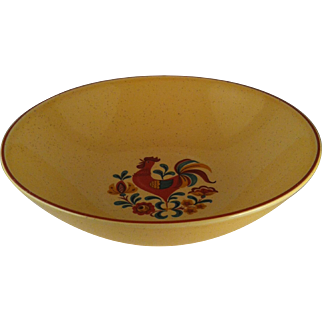 """9"""" Reveille Rooster Round Vegetable Bowl - TS&T"""