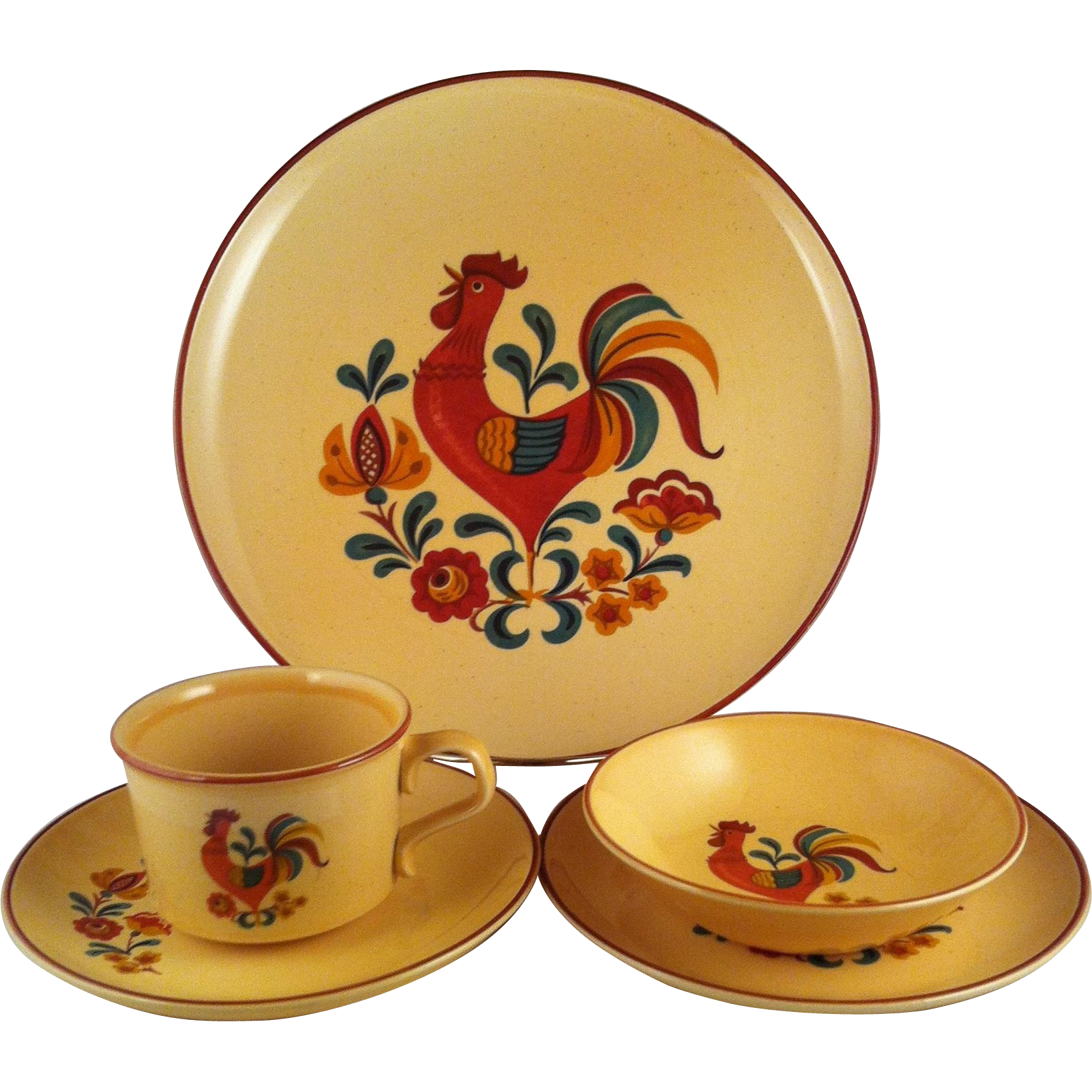 Reveille Rooster 5 Piece Set ~ Taylor,Smith & Taylor