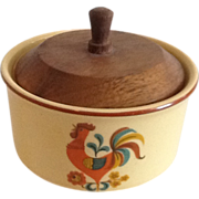 Reveille Red Rooster Sugar Bowl with Lid
