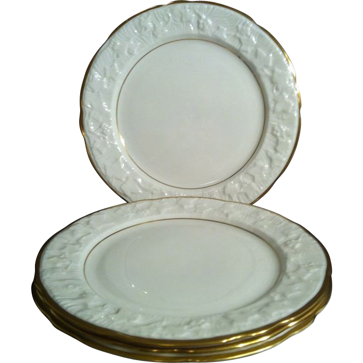 2 Salad Plates in Old English Oak by Royal Stafford
