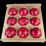 Shiny Brite Mica Dove Ornaments with Box