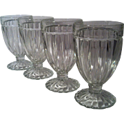 4 Old Fashioned Soda Fountain Glasses