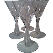 4 Seneca  Crystal Maytime # 164 Wine Glasses