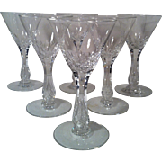 6 Seneca Crystal Maytime #164 Wine Glasses