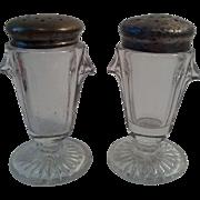 EAPG Sunken Teardrop Salt & Pepper Shakers - Richards & Hartley