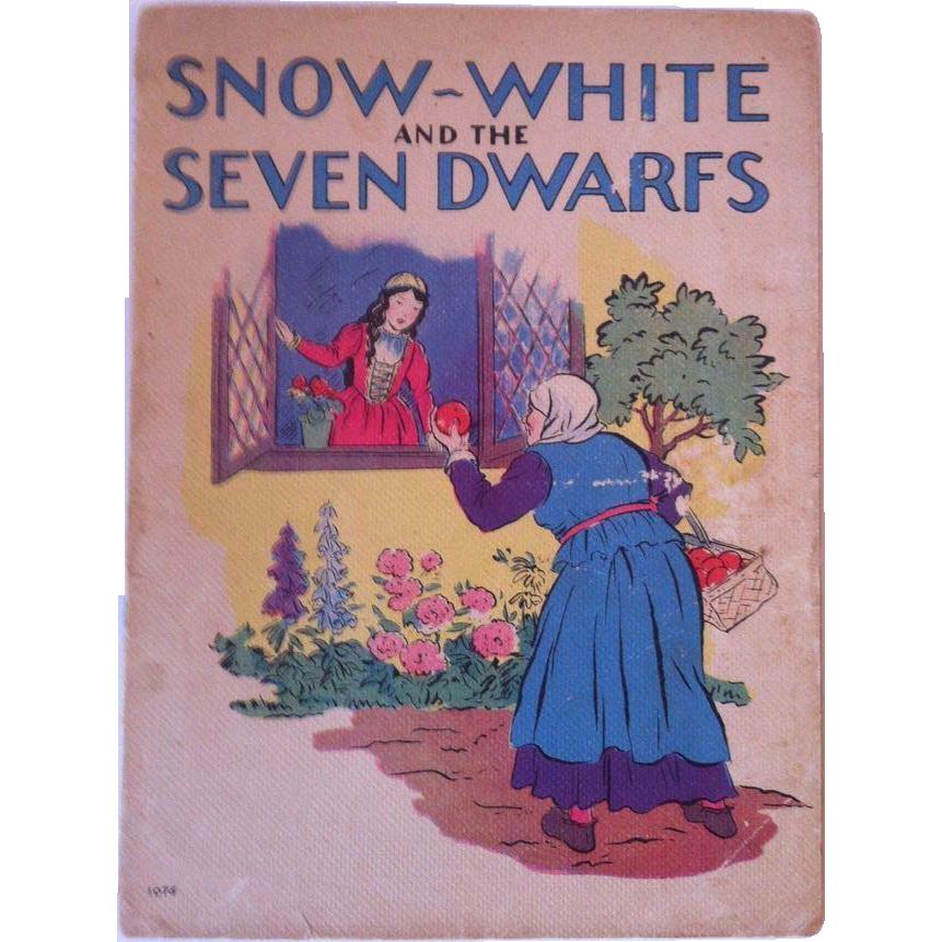 "Vintage 1937 ""Snow White And The Seven Dwarfs"" - Whitman Publishing Company"