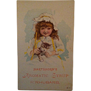 Hartshorn's Aromatic Syrup Rhubarb Trade Card